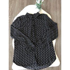 NWT Black & White Star Design Shirt Medium